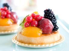 Torte di frutta e crema
