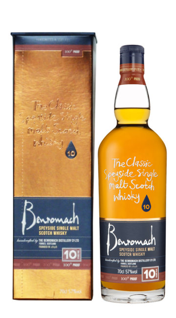 Whisky Single Malt '100° Proof' Benromach 10 Anni