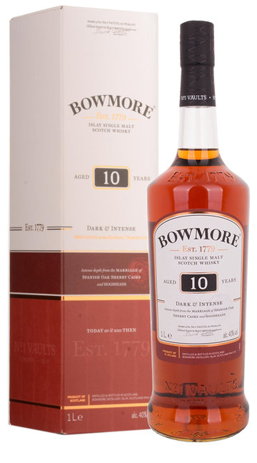 Whisky Single Malt 'Dark & Intense' Bowmore 10 Anni - 100 cl