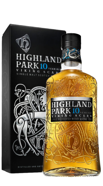 Whisky Single Malt 'Viking Scars' Highland Park 10 Anni